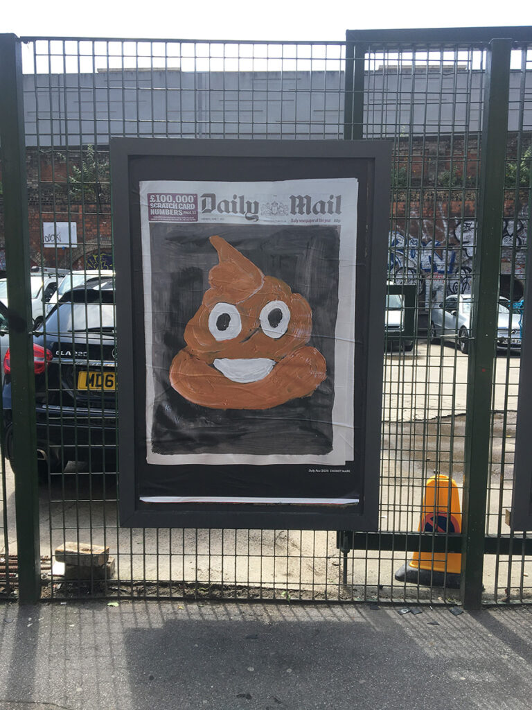 Daily Poo on the street from the Artist Taxi Driver