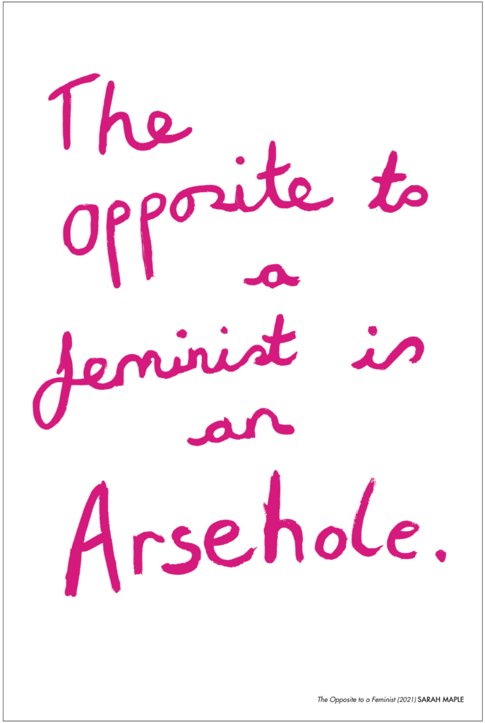 The Opposite to a feminist is an Arsehole.